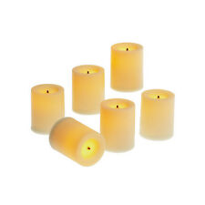 "Candle Impressions Flameless Votive Candles 6 pk 1.75"" Wax Finish Cream"