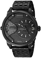 Diesel Unisex Mini Daddy Black Stainless Steel Bracelet Watch 46mm DZ7316