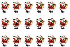 Santa agitant Comestible Glaçage Gâteau Côté Bandes/Ruban (3 X Bandes) de Noël