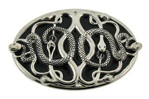Snake  Belt Buckle Cobra Python Rattle Skull Skeleton Western Mens Halloween New