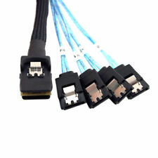 Cablecc 100cm SFF-8087 Host Mini SAS 4i 36Pin to 4 SATA HDD Fanout Target Cable