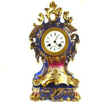 Antique French 19TH siècle porcelaine Henry Mark a Paris Horloge