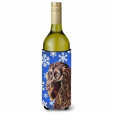Caroline's Treasures-Snowflake Christmas Wine Bottle Beverage Insulator Bever.