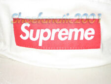 Supreme Box Logo Washed Chino Twill 5 Panel Camp Cap Stone Leather Buckle