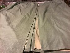 """Montgomery Pair Of Quality Duck Egg Fully Lined Ready Made Curtains 130""""W x 52""""L"""