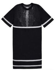 Alexander Wang x H&M Perforated Sheer Mesh Panel Short Sleeve Black Dress XS