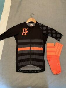 This Is Cambridge TICCC Cycling Clib Jersey And Matching Socks Unisex XS