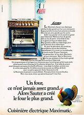 PUBLICITE ADVERTISING 014   1971   SAUTER   cuisinière MAXIMATIC