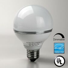 Energy Star Qualified  LED GLOBE BULB 8W E26 550LM 2700K 40000HRS 120V DIMMABLE