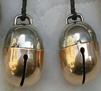 Pair of Falconry Bells Two Tensile Acorn Bell (All Sizes Available) Great Sound.