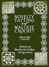 Novelty Arts #6 c.1916 Tatting & Hairpin Lace Edgings Vintage Patterns