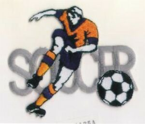 Football Joueur Dribble Balle Broderie Patch