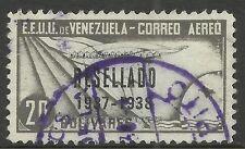 VENEZUELA. 1937. RESELLADO 1937-1938 Ovpt on 20b Grey Black. SG: 507. Fine Used