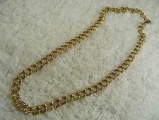 Goldtone Double Ring Link Necklace (B16)