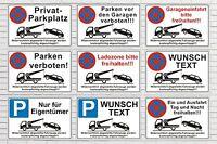 Parkverbot Schild Parken verboten Privatparkplatz Hinwesschild Halteverbot