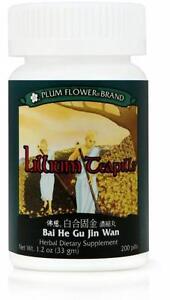 Plum Flower, Lilium Teapills, Bai He Gu Jin Wan, 200 ct
