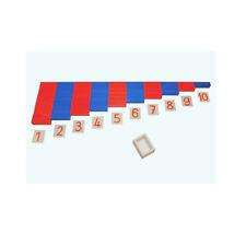 Montessori: Numerische Stangen groß mit Zahlenkarten