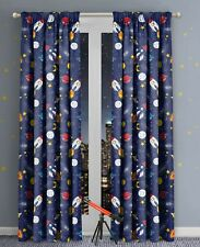 Space Print Themed printed Curtains 66x54