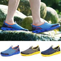 Men's Summer Lightweight Water Shoes Casual Slip On Mesh Flats Walking Sneakers