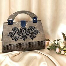 Evening bag Fashionable women's double-sided handbag made of plywood and silk.