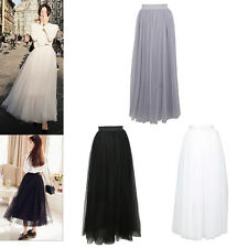 Punk 40's 50's Rockabilly Princess Long Tutu Petticoat Ballet Dance Tulle Skirt
