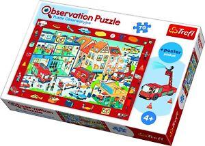 Trefl 70 Piece Kid Observation Missing Item Visit The Fire Station Jigsaw Puzzle