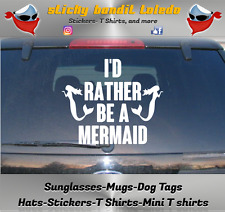 Siren Little Mermaid Salt Life 6 inch window vinyl decal sticker