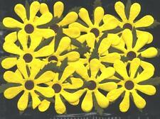 24 YELLOW paper SUNFLOWERS MPFF25::: 55mm PARTY Card Scrapbook Embellishment