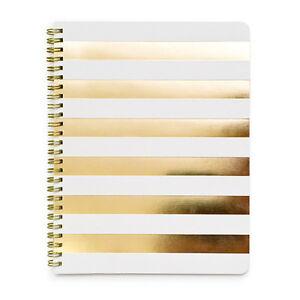 Sugar Paper SALE! White Gold Cabana Stripe Notebook (£18)
