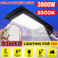 3000W 300000LM LED Solar Street Light PIR Motion Sensor Outdoor Wall Lamp+Remote