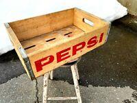 Vintage Wooden Soda Crate Pepsi   - Box