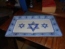 Global Design Seasonal Holiday Hanukkah Chanukah Star Of David Serving Plate