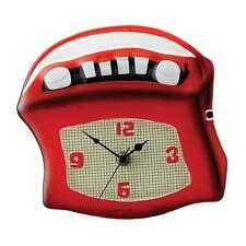 Timewarp Retro Radio Wall Clock New Boxed A24885