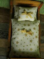 Gold-Sternchenregen-WEIHNACHTS-BETTWÄSCHE für Bett mit Matratzenmaß 10,5x5,5cm,