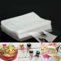 100pc Cello Clear Display Sweet Lollipop Cake pop Favor Party Wedding Treat Bags