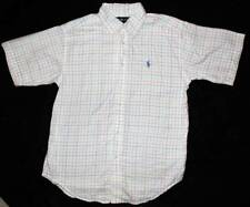 Ralph Lauren Boy's Striped Polo Dress Shirt Pony Logo Top 12 14 Yrs