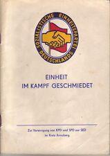 Chronik/Zur Vereinigung von KPD und SPD zur SED im Kreis Annaberg/Erzgebirge