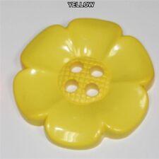 16 COLOUR Extra Large Jumbo Daisy Flower Buttons 60mm Jumbo Big Clown BUY 2 4 8