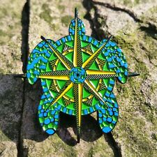 Terrapin Station Compass pin - Grateful Dead Company Co Jerry Garcia lsd pins