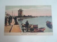 SALONICA - The White Tower - Vintage Postcard (Greece) + Small Boats §E1879