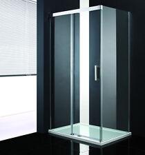 Duschkabine Duschabtrennung dusche Schiebetür 8mm Glas Duschtasse 120x90cm