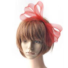 fashion women headband fascinator bowknot red hair clip wedding accessories gift