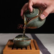 Longquan Celadon Portable Kung Fu Tea Set  A Pot Of Two Teacup