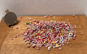 Vintage Artisan Fimo Sculpt Christmas Candy Pieces Dollhouse Miniature 1:12