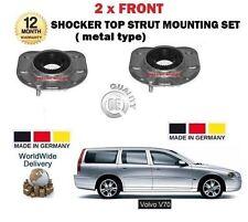 FOR VOLVO V70 2000-2007 2X FRONT UPPER METAL TYPE SHOCKER TOP STRUT MOUNTING KIT