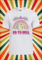 Rainbow Unicorn Go To Hell Cartoon Men Women Vest Tank Top Unisex T Shirt 1575