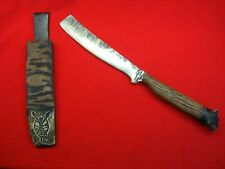 """STEVE KATZ CUSTOM KNIFE - """"THE LIONESS"""" FIXED BLADE KNIFE WITH LEATHER SCABBARD"""