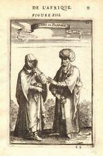 NORTH AFRICA COSTUME. Arab/Berber man & woman in 17C dress. Barbary. MALLET 1683