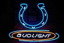 """New Bud Light Indianapolis Colts Neon Light Sign 20""""x16"""""""