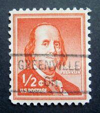 Sc # 1030 ~ 1/2 cent Liberty Issue, Precancel, GREENVILLE OH